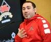 Jacques Paiement fils a passé 11 saisons à la barre du Rouge et Or. Il est photographié à l'automne 2018, lors de la conférence de presse annonçant le début de la saison.