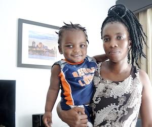 Saintil Étienne a fui les États-Unis avec son fils Gustavo Vixamar, âgé d'à peine un an, pour s'installer en toute tranquillité au Canada.