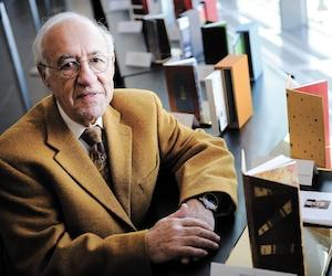 À la suite de nos révélations sur des dépenses injustifiées, le PDG du Salon du livre de Québec, Philippe Sauvageau, a été relevé de ses fonctions, jeudi. Sur cette photo, on le voit au Centre des congrès, en avril dernier.