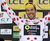 Antoine Duchesne a enfilé le maillot du meilleur grimpeur le 13 mars lors du Paris-Nice.