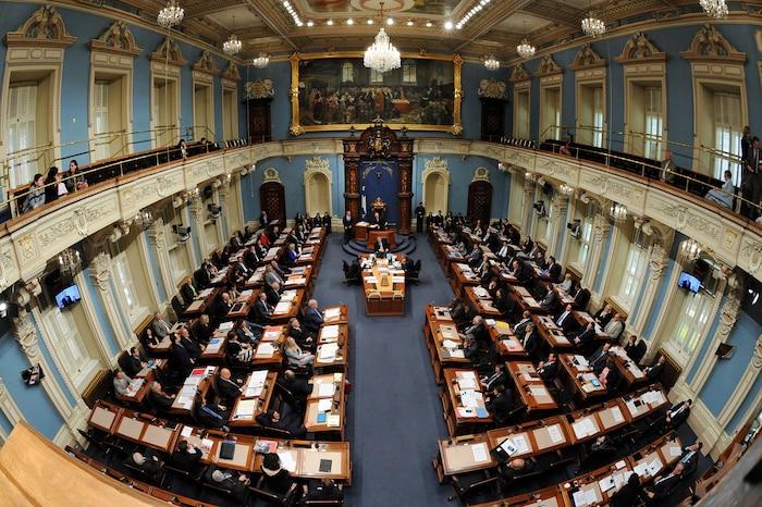 Salon bleu de l'Assemblée nationale.