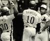 Al Oliver (à droite) a connu deux belles saisons avec les Expos.