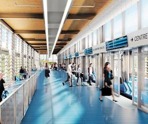 Le futur Réseau express métropolitain (REM) est l'un des grands projets confiés par le gouvernement du Québec à CDPQ Infra.