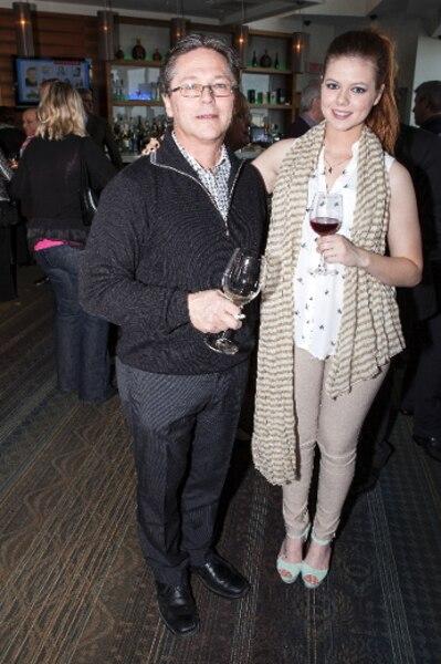 Jean-François et Sarah-Anne Bissonnette lors du 11e Gala Accroche-coeur.