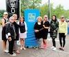 Le comité organisateur de cette édition du Filles Open : Cynthia Desrosiers, Carole Marchand, Marie-Josée Cheikha, la présidente d'honneur de l'événement Judy Goyette, vice-présidente, Services financiers à l'entreprise, Rive-Sud de Québec/Mauricie, à la RBC Banque Royale, Marie Gagnon, Alexandra Leduc, Marie-Chrystelle Cheïkha et Sarah Nourcy.