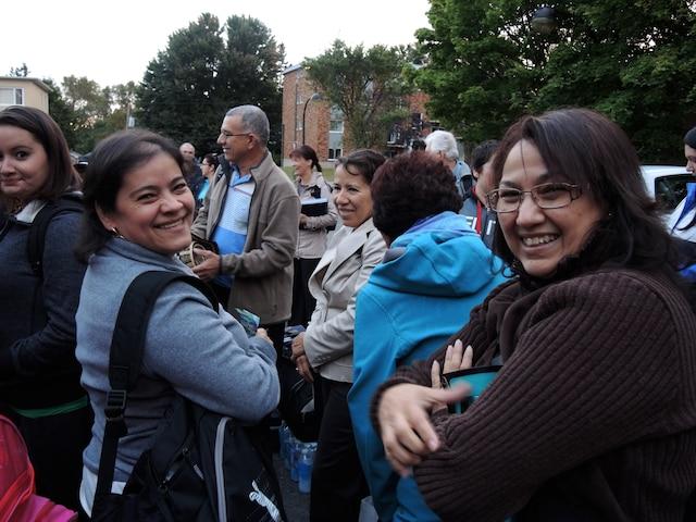 Ces pèlerins de la grande région de Québec s'en vont aux États-Unis dans l'espérance de voir le pape au cours du week-end
