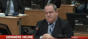 L'enquêteur Michel Comeau, à la barre de la commission Charbonneau.