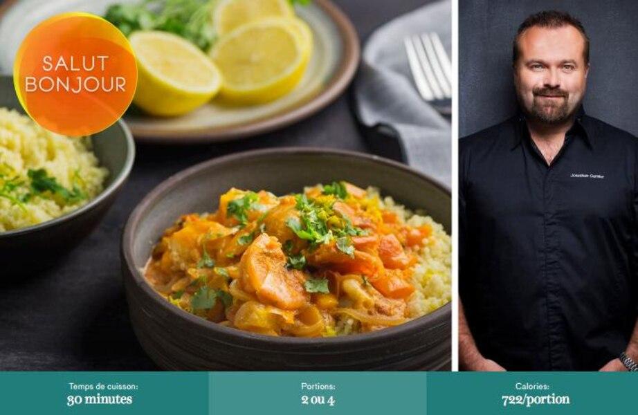Curry de crevettes à la thaïlandaise