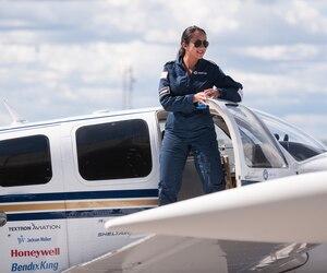 Shaesta Waiz, jeune pilote afghane.