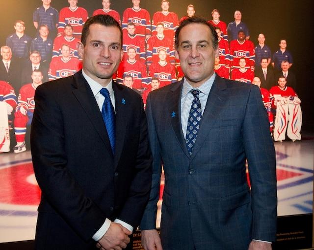 Le personnel du Canadien portait une épinglette et une cravate bleue, la couleur internationale de l'autisme. L'entraîneur des gardiens de but Pierre Groux est accompagné de Scott Mellanby, directeur du personnel des joueurs; chacun a un fils autiste.