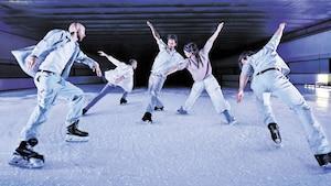 Les cinq patineurs de la compagnie Le Patin libre se sont retirés à Saint-André-Avellin pour répéter leur spectacle Threshold à la fin du mois de mars.