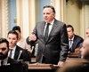 Le premier ministre François Legault à l'Assemblée nationale, le 1er mai dernier.