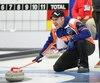 À l'arena de Levis la finale provinciale de curling opposant l'équipe du Skip Jean-Michel Ménard a celle de Martin Ferland