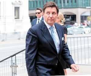 Le ministre de l'Énergie Pierre Moreau était présent hier aux funérailles de l'ex-ministre de l'Éducation Paul Gérin-Lajoie.