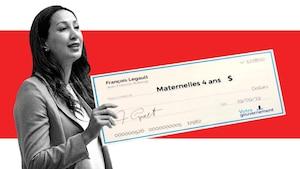Image principale de l'article Elle a trouvé un «chèque en blanc» du gouvernement