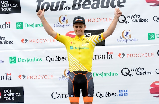 Alec Cowan de la formation canadienne Silber Pro Cycling.