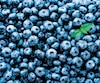 Fresh blueberries background with copy space for your text. Border design. Vegan and vegetarian concept. Macro texture of blueberry berries. Summer healthy food. Banner