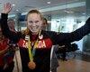 Karen Paquin à son retour des Jeux olympiques de Rio où l'équipe canadienne de rugby à 7 a remporté le bronze.