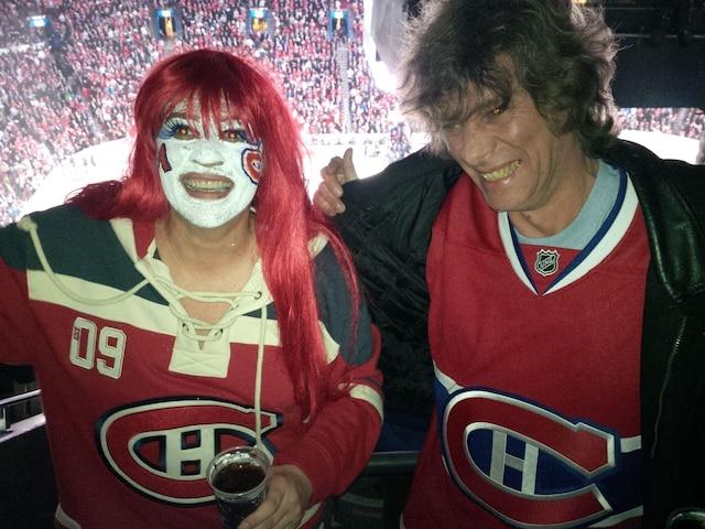 Patricia Donaldson et Greg Chapman toujours prêt pour encourager les Canadiens au Centre Bell