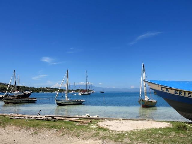 La baie de Kay Kok devant l'hôtel Port Morgan, à l'Ile-à-Vache.