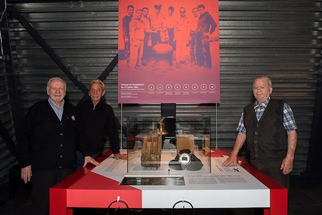 Les trois hommes qui ont découvert l'épave en 1964