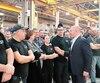 Le PDG de Bombardier, Alain Bellemare, avait visité pour la première fois, en décembre 2018, l'usine de La Pocatière et avait rassuré les employés quant à l'avenir de l'usine du Bas-Saint-Laurent.