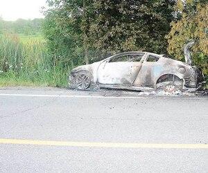 Le corps de Julie Morrisson a été retrouvé dans sa voiture calcinée, le 30juin 2013.