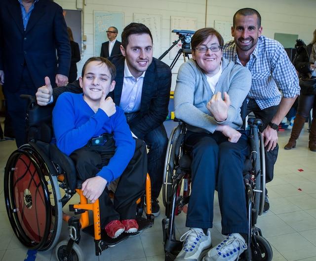 Tristan Lessard, Alexandre Bilodeau et son frère, Frédéric Bilodeau et Benoit Huot.