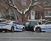 ACCIDENT IMPLIQUANT AUTO-PARTOUILLE DU SPVM 2922 RUE SHERBROOKE EST 17 NOVEMBRE 2018