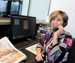 Employée du <i>Journal</i> depuis près de 30ans, Mimie Maltais œuvre à la réception depuis 2014. Sa gentillesse et son sourire sont communicatifs.