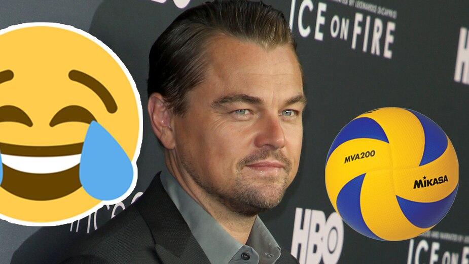 DiCaprio reçoit un ballon dans la face