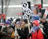 Marche et rassemblement des avocats et notaires de l'État et de l'Agence du Revenu mercredi le 7 Décembre dernier.