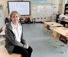 L'enseignante Nancy Gagné, que l'on voit ici dans sa classe de maternelle, a été malade à deux reprises cette année alors qu'il n'y avait aucun suppléant disponible pour la remplacer. En son absence, trois autres enseignants de son école se sont succédé auprès de ses élèves pendant un avant-midi.
