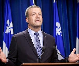 Le ministre de la Culture au gouvernement du Québec, Luc Fortin.