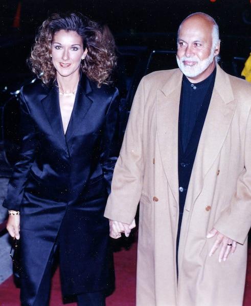 Céline Dion et René Angelil. mariage de Vito Luprano.  15 février 1998. Photo Normand Jolicoeur / Le Journal de Montréal.