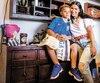 Arturo junior, qui ressemble beaucoup à son illustre père ,est la joie de vivre d'Amanda Gatti.