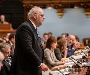 Le chef intérimaire du Parti libéral, Pierre Arcand