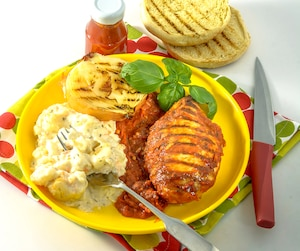 Poitrines de poulet au ketchup