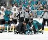 Les officiels en poste lors du septième match de la série entre les Golden Knights et les Sharks ont commis une erreur à la suite de la blessure subie par Joe Pavelski. La Ligue nationale l'a d'ailleurs reconnu hier.