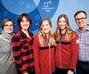 Johanne Dufour, ses filles Maxime, Justine et Chloé ainsi que son conjoint Yves Lapointe, ont savouré la médaille d'argent de Justine après une année2017 difficile pour toute la famille.