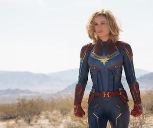 Brie Larson dans <i>Captain Marvel</i>.