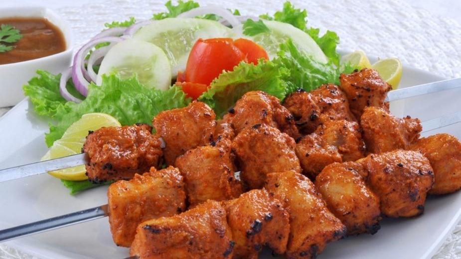 Brochettes de porc à l'indienne