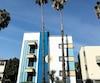 Un immeuble typique du boulevard San Vincente, à West Hollywood, en Californie.