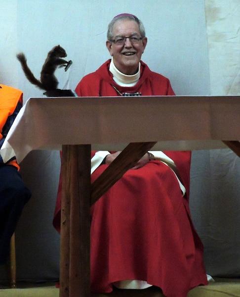 L'évêque Dorylas Moreau a livré un message de respect envers l'environnement.
