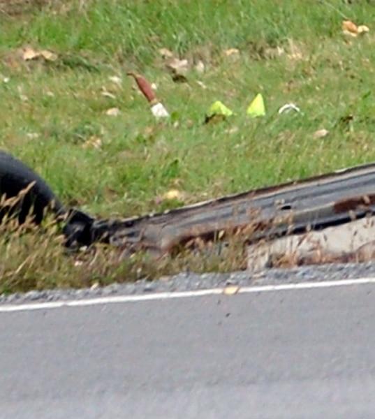 Parmi les éléments trouvés à côté de la voiture accidentée, se trouvait un poignard.