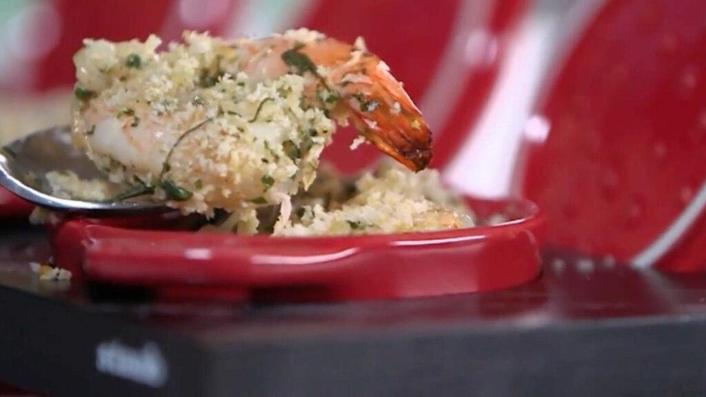 Cassolette de crevettes