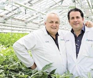 Cole Cacciavillani et John Cervini, cofondateurs de la compagnie de marijuana Aphria qui détient une entente avec la Société des alcools du Québec pour fournir plus de 12000kilos de cannabis par année aux magasins de la Société québécoise du cannabis.