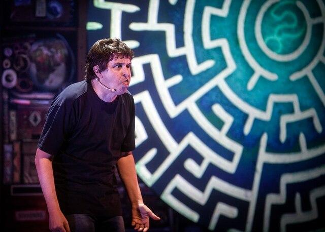 La première du spectacle d'Yves P. Pelletier a été présentée mardi soir à la salle Albert-Rousseau à Québec.