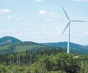 Le projet éolien Apuiat, sur la Côte-Nord, est incertain depuis l'élection du premier ministre François Legault, qui a exprimé son opposition au projet qui avait l'appui du précédent gouvernement libéral. Sur la photo, le parc éolien de Carleton-sur-Mer, en Gaspésie.