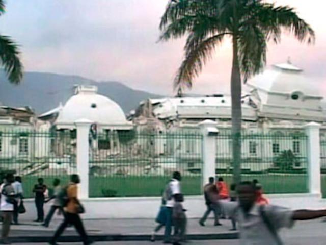 Le Palais Présidentiel a été lourdement endommagé.